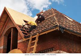 Roofing Contractors Installing House Roof Board Stock Photo (Edit Now)  731763493